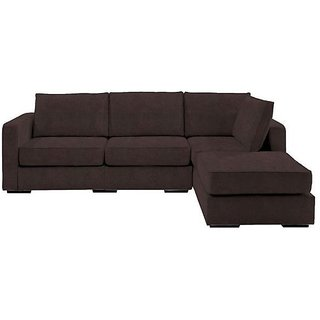 Earthwood -Michelle Fabric L Shape Sofa with Right Chaise Lounge