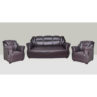 Earthwood -Pluto Leatherette 3+1+1 Sofa Set