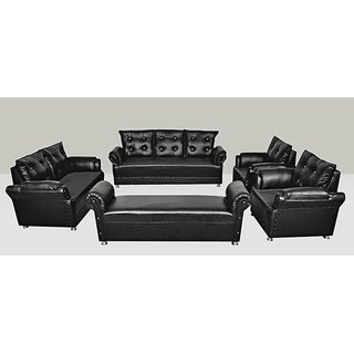 Buy earthwood seabury leatherette 9 seater sofa set 3 2 for 9 seater sofa set