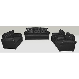 Earthwood -Seabury Leatherette 7 Seater Sofa Set (3 Seater + 2 Seater + 1 Seater + 1 Seater)