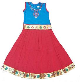 Nakshatra Blue  Red Lehenga (NC 46) (Size 22)