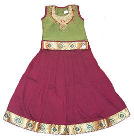 Nakshatra Light Green  Brown Lehenga (NC 203) (Size 22)