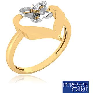 Certified 0.02ct Natural White Diamond Ring 14k Hallmarked Gold Ring LR-0231G