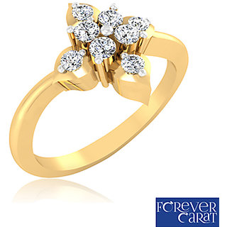 Certified 0.18ct Natural White Diamond Ring 14k Hallmarked Gold Ring LR-0233G