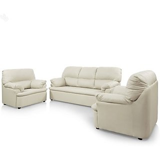 Buy Comfort Couch Leatherette 3 1 1 Sofa Set Finish Color
