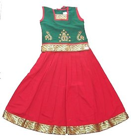 Nakshatra Green  Red Lehenga (NC 14) (Size 20)