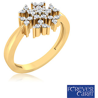 Certified 0.16ct Natural White Diamond Ring 14k Hallmarked Gold Ring LR-0239G