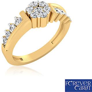 Certified 0.31ct Natural White Diamond Ring 14K Hallmarked Gold Ring LR-0243G