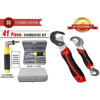41 Pcs Tool Kit Screwdriver With Snap N Grip Wrench