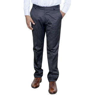 IndiWeaves Men Rayon Black Trouser