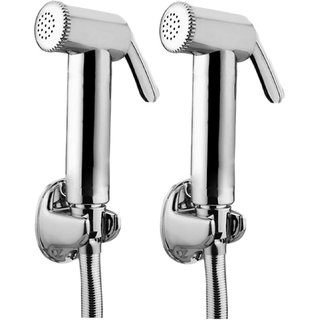 JAQUAR Ald Chr-563 Brass Health Faucet With Tubes And Hooks- Set Of 2
