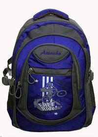 Attache Stylish School Bag (Royal blue  Grey)