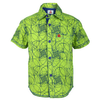 Ufo Boys Lemon Green Half Slleve Shirt
