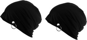 Beanie Cap Black (Pack of 2)