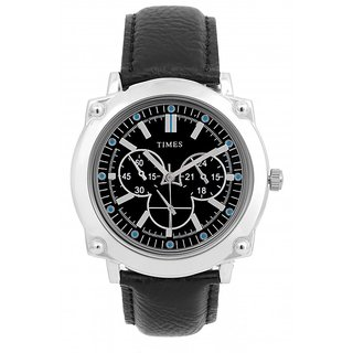 F Furious Analog Watch Men With Black Leather Strap And Dial Plate