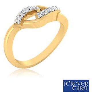 Certified 0.14ct Natural White Diamond Ring 14K Hallmarked Gold Ring LR-0249G