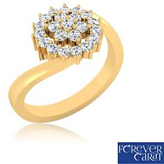 Certified 0.46ct Natural White Diamond Ring 14K Hallmarked Gold Ring LR-0261G