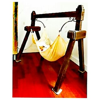 Buy Wooden Baby Jhula Cradle Online At 2400 From Shopclues