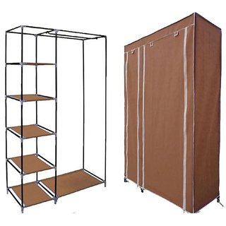Folding Wardrobe Almirah (A-2 Light and Trendy)