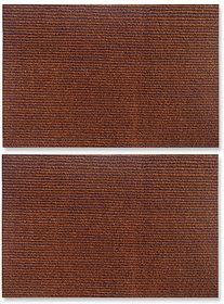 Status Brown Nylon Floor Mat ( 15 X23 Inch ) Set Of 2