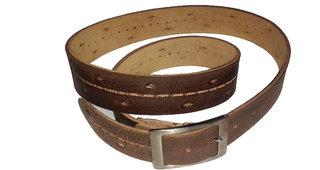Sanshul Brown Casual Leather Belt For Boys  Men