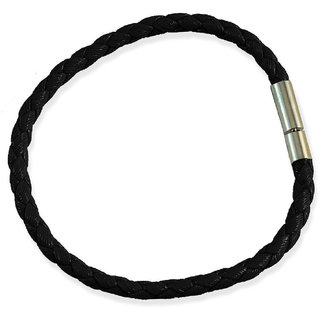 Leather Thread Bracelet Men, Black for Everyday wear