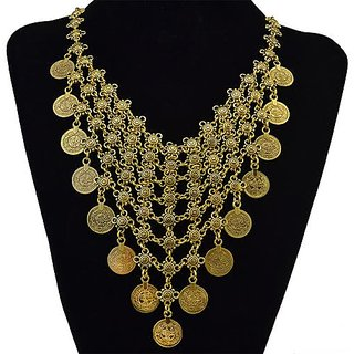 Golden coin Necklace Fashion Jewellary