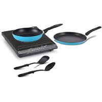 Combo Of Glen GL 3070 Induction Cooktop  ALDA Set Of 2 Non-Stick Cookware (Blue)