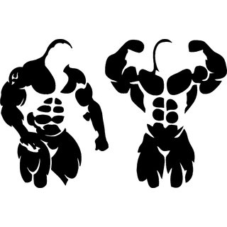 Bodybuilder 2 pcs decal sticker for car and bikes: Buy