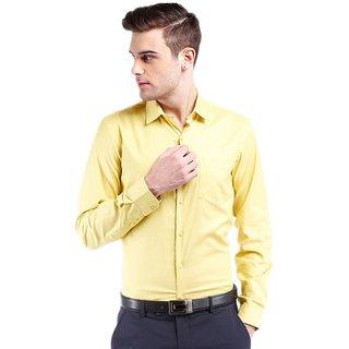 Talukder Traders Yellow Formal Regular Fit Shirts For Men