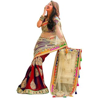 Heavy Work Saree For Woman