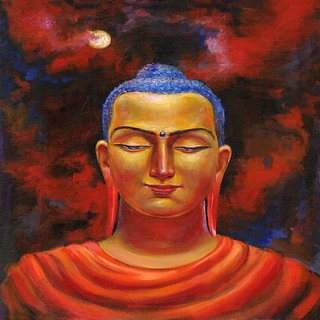 Art Tantra Fine Art Canvas Painting Enlightened Buddha