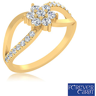 Certified 0.38ct Natural White Diamond Ring 14K Hallmarked Gold Ring LR-0269G