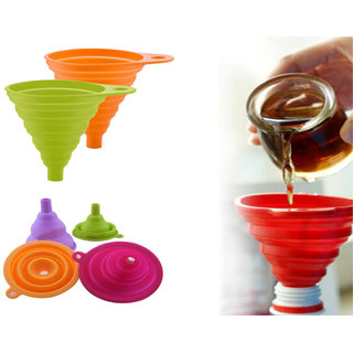 Collapsible Foldable Silicone Funnel -  FNNHS23