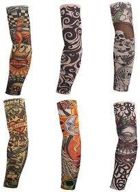 Atoplus Sun Protection Arm Sleeves Tattoo (3 Pair)