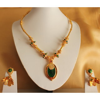 d5a720f5e Buy Beautiful Kerala Style Palakka Necklace Set Online @ ₹1750 from ...