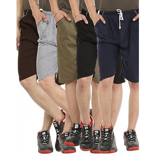 Gumber Pack of 5 Multicoloured Solid Shorts