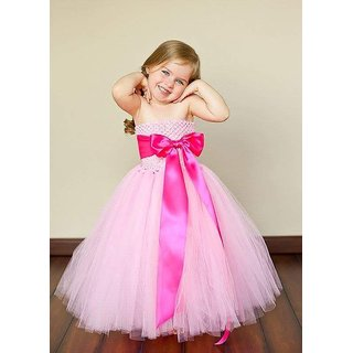 2f12e866b Buy Designer Party Wear Pink Frock For Baby Girls Online   ₹1300 ...