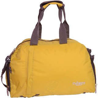 Donex Duffle Bag Cum Backpack For Gym Travel Yellow 1277