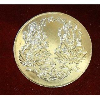 Laxmi Ganesh Golden Plated Coin - Diwali Gifts Vastu