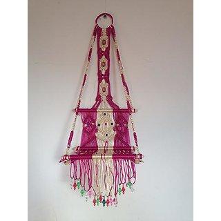 Buy Handmade Home Decorative Macrame Teddy Jhula For Home Decor With