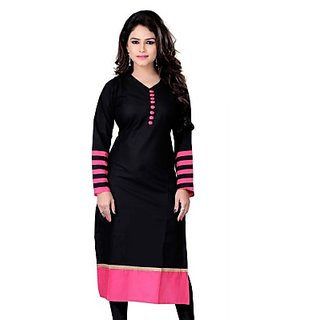 Casual Self Design, Solid Womens Kurti