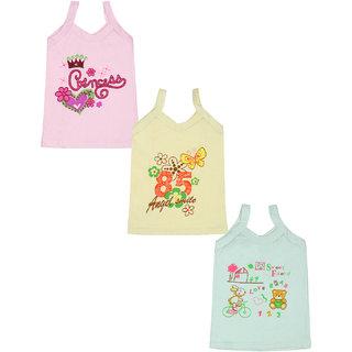 Gumber Pack of 3 Multicoloured Sleeveless Vests