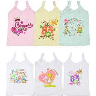 Gumber Pack of 6 Multicoloured Sleeveless Vests