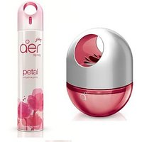 Godrej Aer Home Spray (300ml) + Aer Twist (60ml) Petal Crush Pink Diffuser Air Freshner