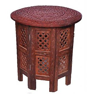 Ocean Handicraft Pure Seesham Wood Folding Round Table