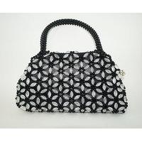 Beautiful Beaded Handbag (Black)