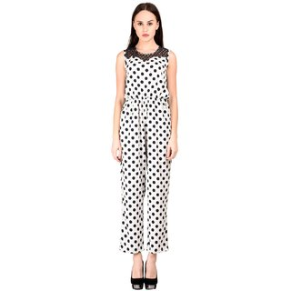 b92646ca8079 Buy Westchic womens White with Black Polika Dot JUMPSUIT Online ...