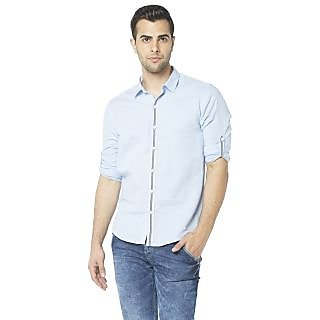 Globus MenS Blue Colored Shirt