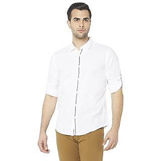 Globus MenS White Colored Shirt